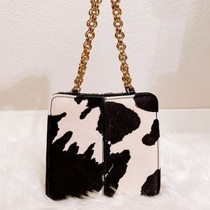 NEW cowhide mini purse